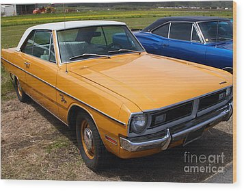 Dodge Dart Swinger . 7d15255 Wood Print by Wingsdomain Art and Photography