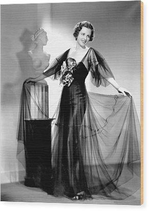 Dodsworth, Mary Astor, 1936 Wood Print by Everett