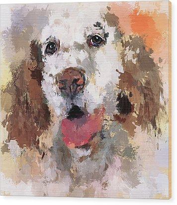 Dog Pet Wood Print by Yury Malkov