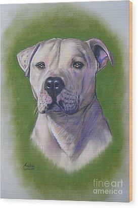 Dog Portrait Wood Print by Anastasis  Anastasi