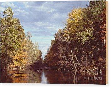 Wood Print featuring the photograph Dogleg Lake by Jack R Brock