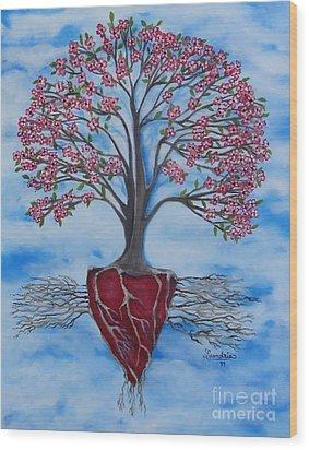 Dogwood Greentree Proverb Wood Print