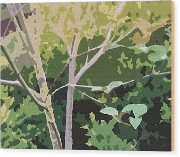 Dogwood I Wood Print