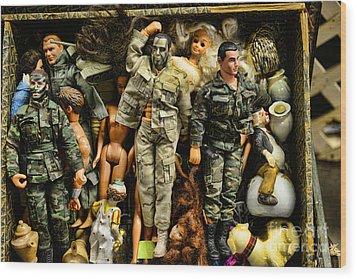 Doll - Gi Joe In Camo Wood Print by Paul Ward
