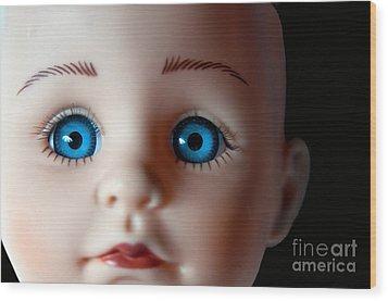 Doll Eyes Wood Print by Dan Holm