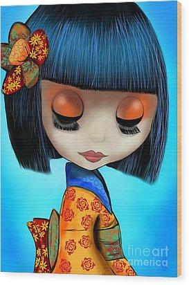 Doll From The East Wood Print