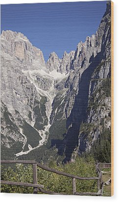 Wood Print featuring the photograph Dolomiti Di Brenta by Raffaella Lunelli