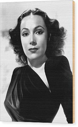 Dolores Del Rio, Portrait Ca. 1940 Wood Print by Everett