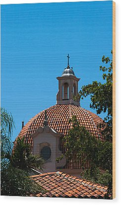 Wood Print featuring the photograph Dome At Church Of The Little Flower by Ed Gleichman