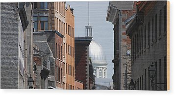 Wood Print featuring the photograph Dome Bonsecours Market by John Schneider