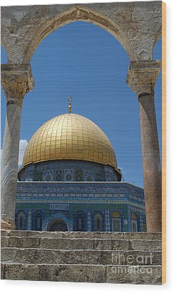 Wood Print featuring the photograph Dome Of The Rock  by Eva Kaufman