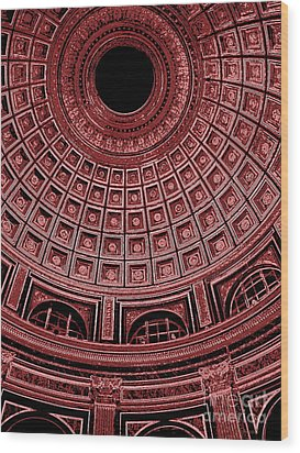 Wood Print featuring the photograph Dome. Vatican. Red by Tanya  Searcy
