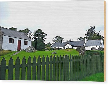 Wood Print featuring the photograph Donegal Home by Charlie and Norma Brock
