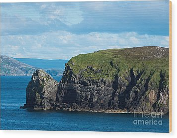 Donegal Seascape Wood Print by Andrew  Michael