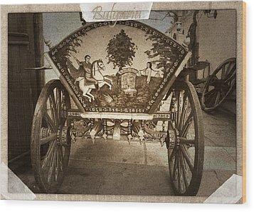 Donkey Cart Wood Print by Cliff Norton