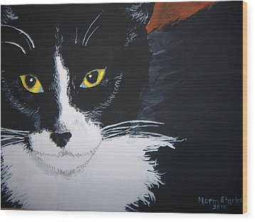 Wood Print featuring the painting Don't Bug Me by Norm Starks