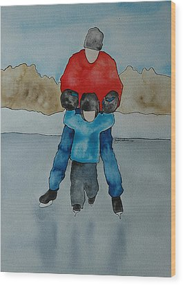 Don't Let Go Dad Wood Print by Twyla Wehnes
