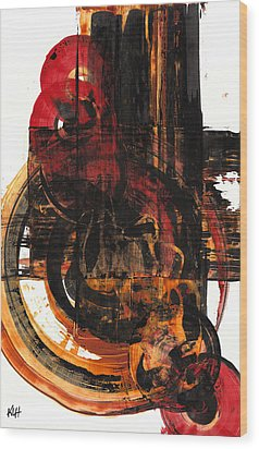 Wood Print featuring the painting Don't Worry Be Happy  120.122210 by Kris Haas