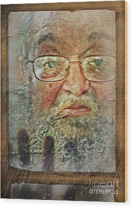 Wood Print featuring the digital art Don't You See Me?  I'm Here. .  by Rhonda Strickland