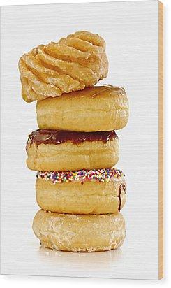 Donuts Wood Print by Elena Elisseeva