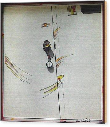 Door 1980 Wood Print by Glenn Bautista