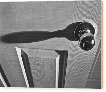 Wood Print featuring the photograph Doorknob by Bill Owen