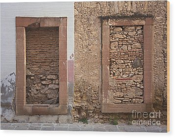 Wood Print featuring the photograph Doors - Mineral De Pozos Mexico by Craig Lovell