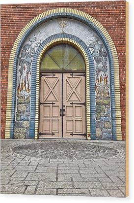 Doors Of Faith  Wood Print by Jerry Cordeiro