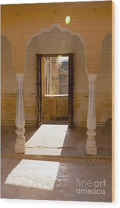 Doorway And Arch In The Amber Fort Wood Print by Inti St. Clair