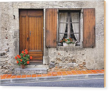Wood Print featuring the photograph Doorway And Window In Provence France by Dave Mills