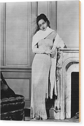 Dorothy Lamour, Ca. Late 1940s Wood Print by Everett