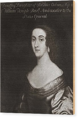 Dorothy Osborne, English Letter Writer Wood Print by Middle Temple Library