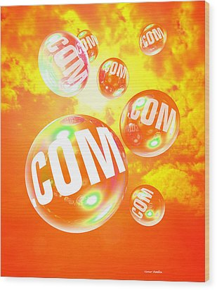 Dot Com Bubbles Wood Print by Victor Habbick Visions