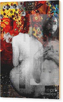 Double Fantasy John Lennon Yoko Ono Nude Wood Print