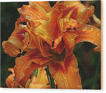 Wood Print featuring the photograph Double Lily by Michael Friedman