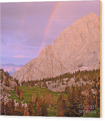 Double Rainbow Wood Print by Scott McGuire