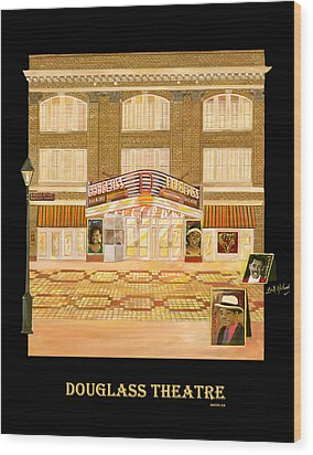 Douglass Theatre Wood Print by Leah Holland