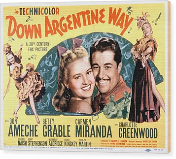 Down Argentine Way, Betty Grable, Don Wood Print by Everett