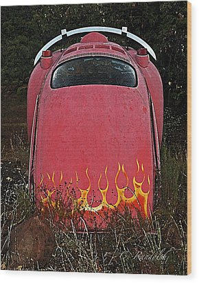 Wood Print featuring the photograph Down In Flames by Cheri Randolph