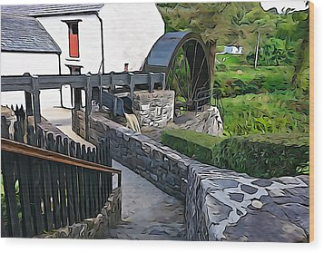 Wood Print featuring the photograph Down To The Mill by Charlie and Norma Brock