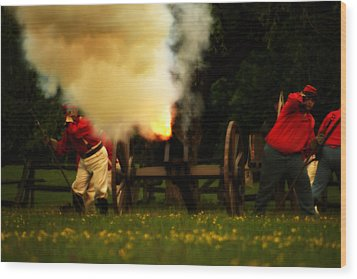 Downrange Of The Cannon Wood Print by Jonathan Bateman