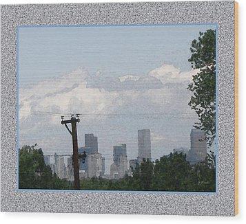 Downtown Denver Wood Print by Gretchen Wrede