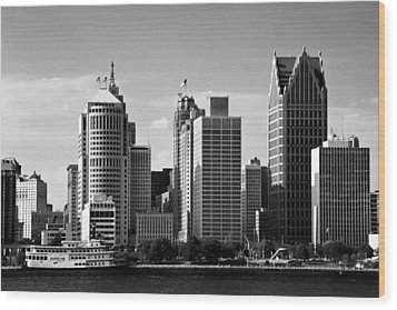 Downtown Detroit Wood Print by James Marvin Phelps