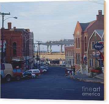 Downtown Eastport Maine Wood Print by Geri Harkin-Tuckett