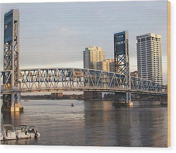 Downtown Jacksonville Wood Print by Tiffney Heaning