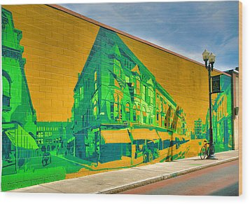 Downtown Mural IIi Wood Print by Steven Ainsworth