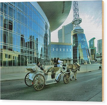 Downtown Nashville Iv Wood Print by Steven Ainsworth