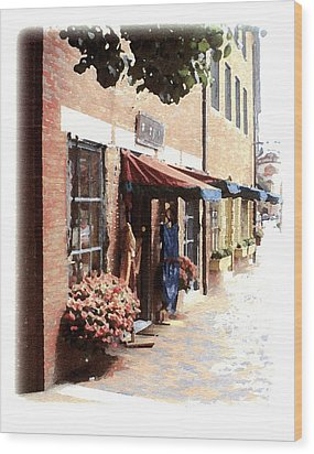 Downtown Newburyport Wood Print