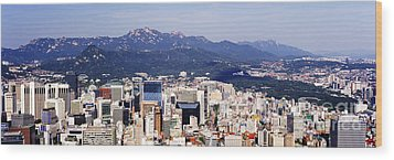 Downtown Seoul Skyline Wood Print by Jeremy Woodhouse