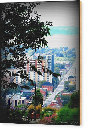 Wood Print featuring the photograph Downtown View From Hamilton Mountain  by Danielle  Parent